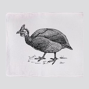 Guinea fowl Throw Blanket