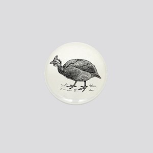 Guinea fowl Mini Button