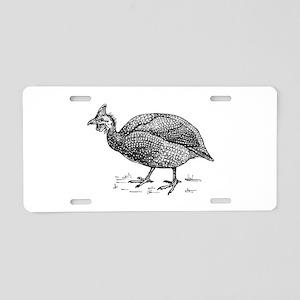 Guinea fowl Aluminum License Plate