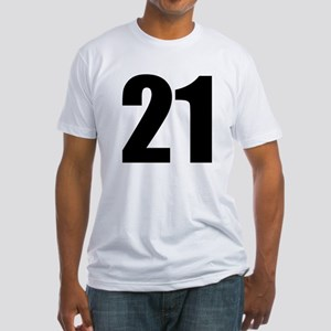 Number 21 Fitted T-Shirt