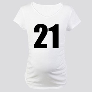 Number 21 Maternity T-Shirt
