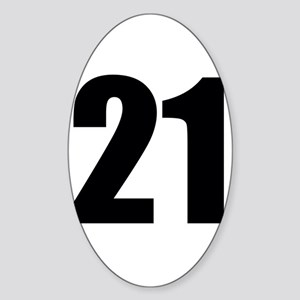 Number 21 Sticker (Oval)