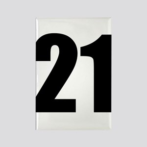 Number 21 Rectangle Magnet