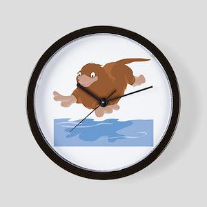Platypus Diving Wall Clock