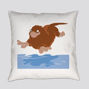 Platypus Diving Everyday Pillow