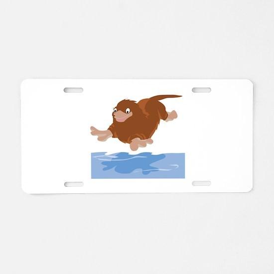 Platypus Diving Aluminum License Plate