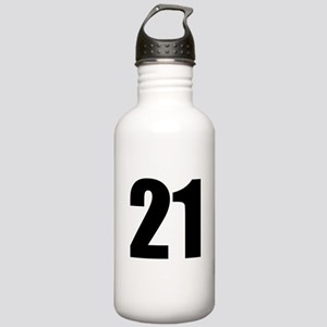 Number 21 Stainless Water Bottle 1.0L