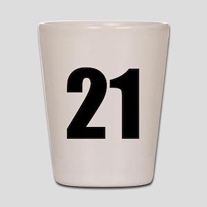 Number 21 Shot Glass