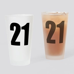 Number 21 Drinking Glass