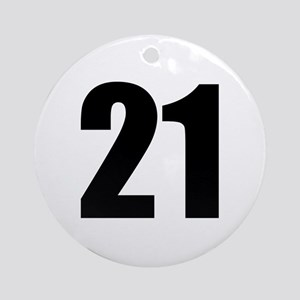 Number 21 Round Ornament