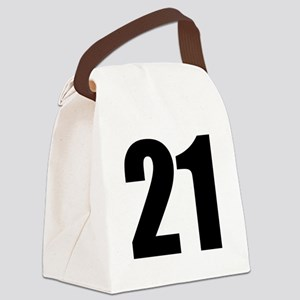 Number 21 Canvas Lunch Bag