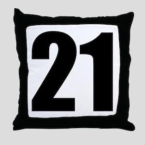 Number 21 Throw Pillow