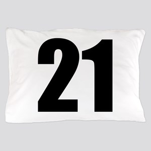 Number 21 Pillow Case