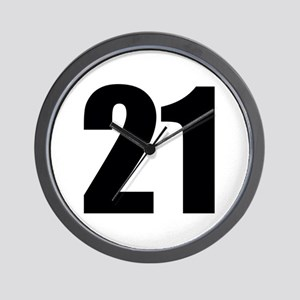 Number 21 Wall Clock