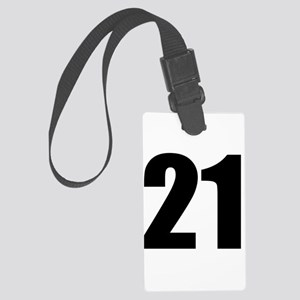 Number 21 Large Luggage Tag