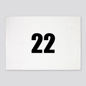 Number 22 5'x7'Area Rug