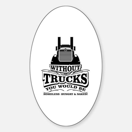 Cute Trucking Sticker (Oval)