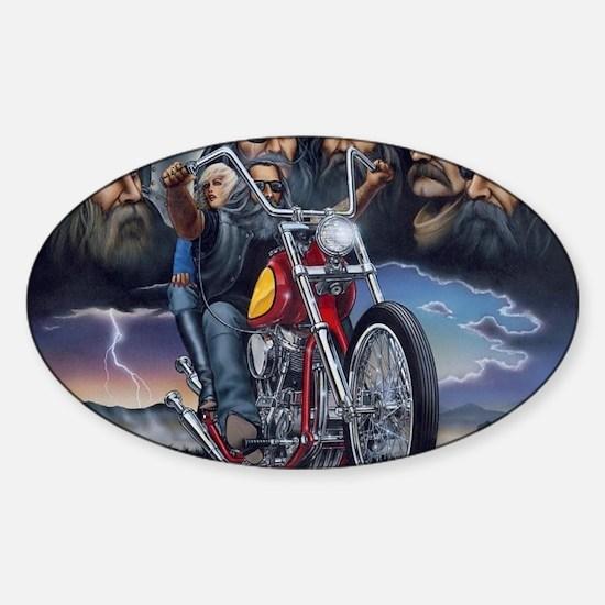Unique Biker Sticker (Oval)