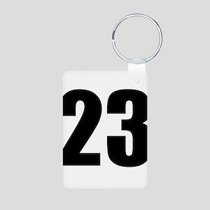 Number 23 Aluminum Photo Keychain