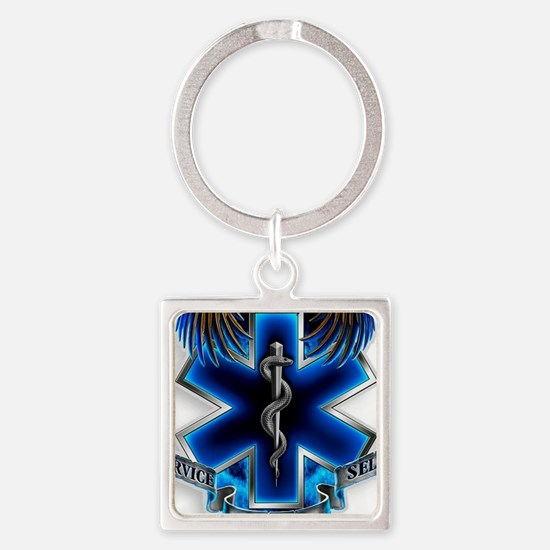 Cute Emt Square Keychain