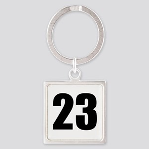 Number 23 Square Keychain