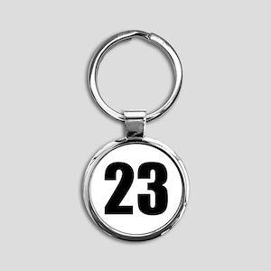 Number 23 Round Keychain