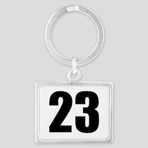 Number 23 Landscape Keychain