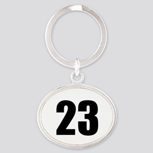 Number 23 Oval Keychain
