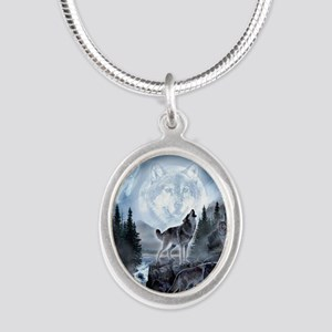 Silver Oval Necklace