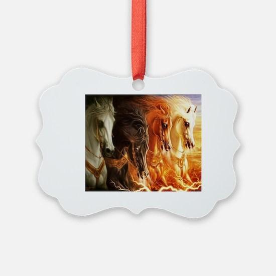Unique Horses Ornament