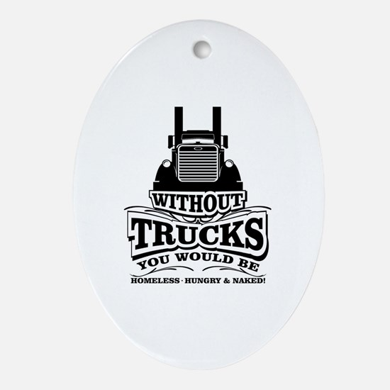 Cute Trucking Oval Ornament