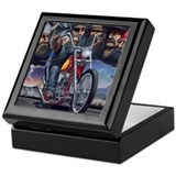 Biker Square Keepsake Boxes