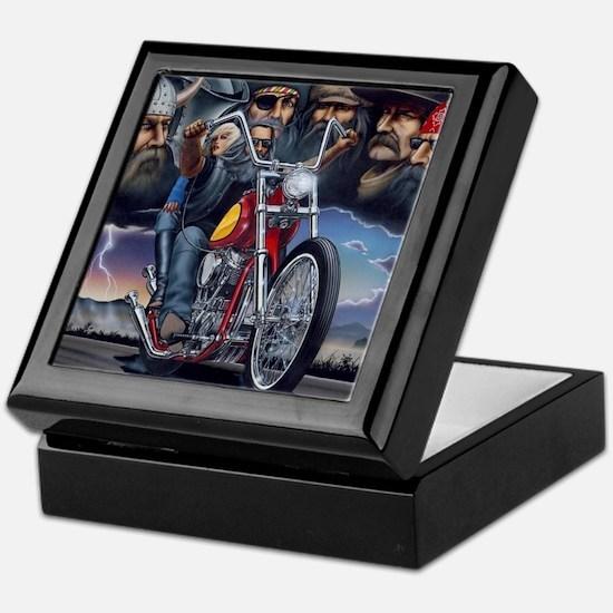 Cute Biker Keepsake Box