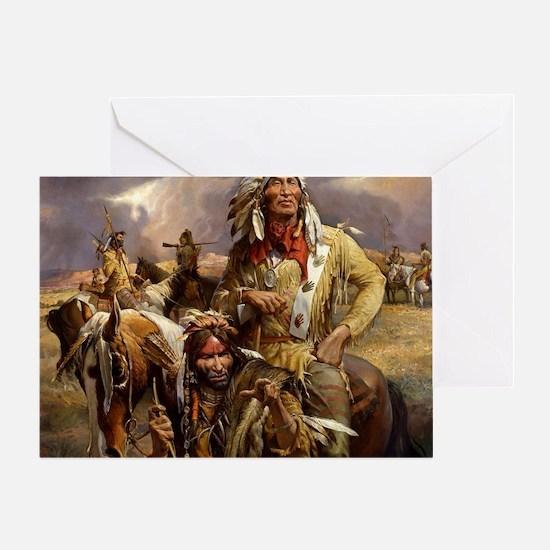 Cool Native american Greeting Card