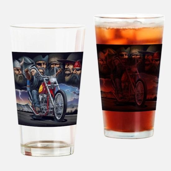 Unique Biker Drinking Glass