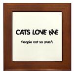Cats Love Me Framed Tile