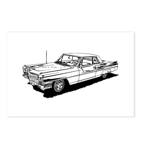 1957 ford thunderbird postcards  package of 8  by admin
