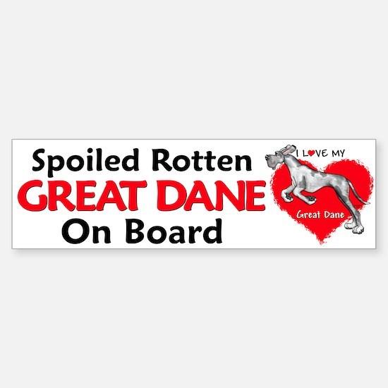Spoiled Merle Dane UC Bumper Bumper Bumper Sticker
