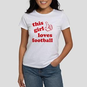 This girl loves football Women's T-Shirt