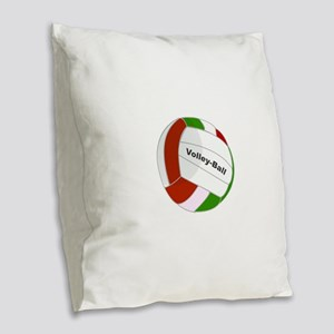 Volley ball Burlap Throw Pillow