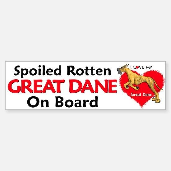 Spoiled Brindle Dane Bumper Bumper Bumper Sticker
