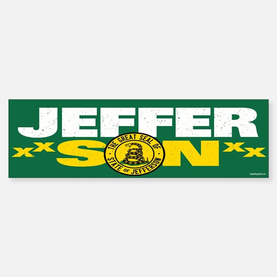 State of Jefferson - DTOM Sticker (Bumper)