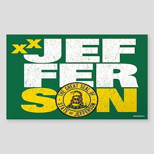 State of Jefferson - DTOM Sticker (Rectangle)