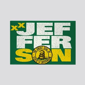 State of Jefferson - DTOM Rectangle Magnet