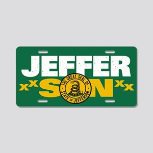 State of Jefferson - DTOM Aluminum License Plate