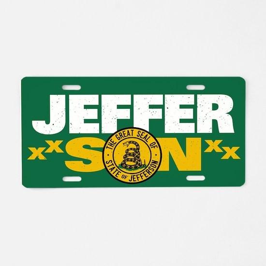 State of Jefferson - DTOM Aluminum License Plate