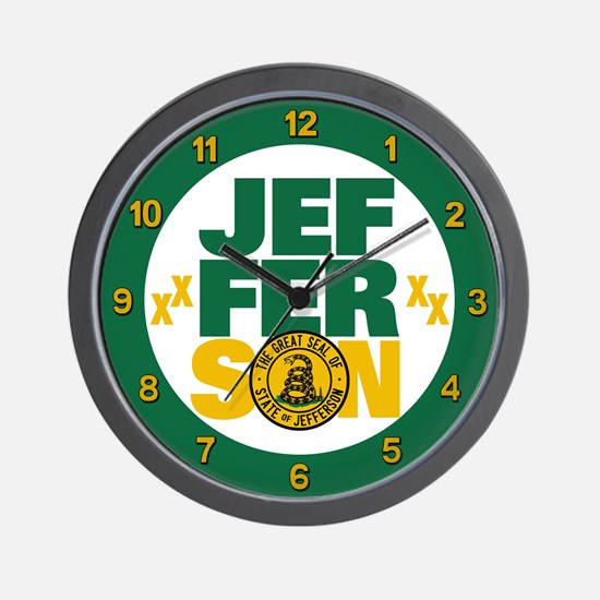 State of Jefferson - DTOM Wall Clock