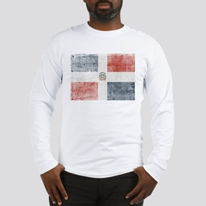 Dominican Republic Distressed Long Sleeve T-Shirt