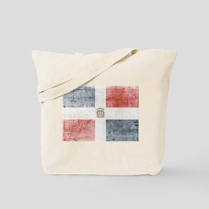 Dominican Republic Distressed Flag Tote Bag