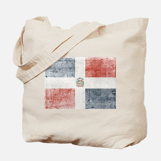 Dominican Republic Distressed Flag Tote Bag